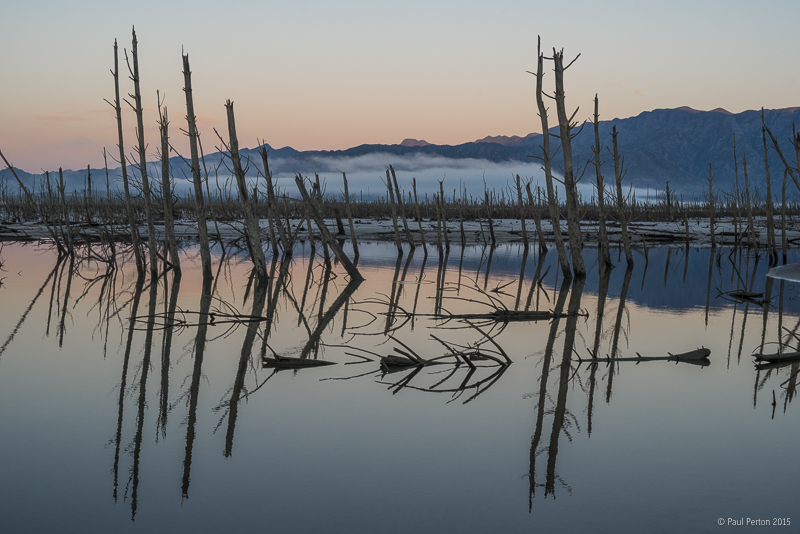 Misty sunrise at Theewaterskloof Dam